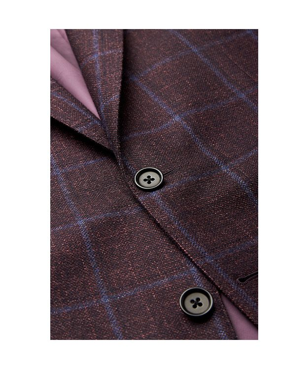 Burgundy Check Jacket_DETAIL
