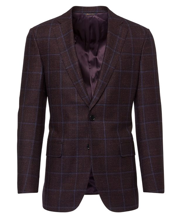 Burgundy Check Jacket_FULL